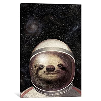 Icanvasart Icanvas Space Sloth Gallery Wrapped Canvas Art Print By Eric Fan, 18&Quot; X 12&Quot; - Sloth Art