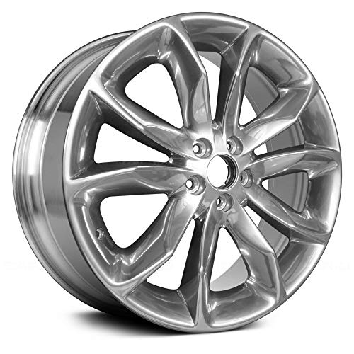 Value 5 Double Spokes Bright Polished Factory Alloy Wheel OE Quality Replacement