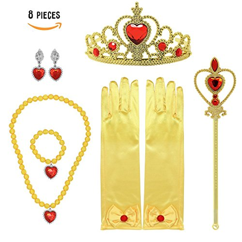 Small Princess Dress Up Gift Set 8 Pieces Belle Yellow Makeup (31 Days Of Halloween Makeup)