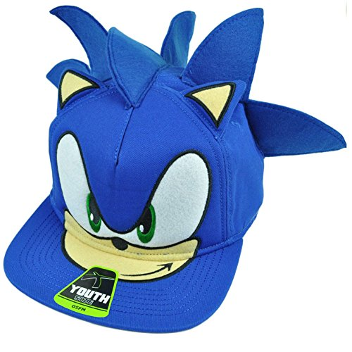 sonic-the-hedgehog-snapback-face-cartoon-youth-hat-cap-blue-video-game-tv-show