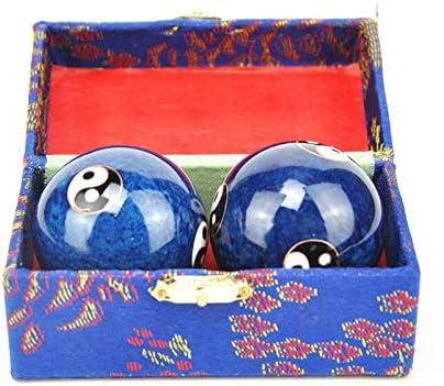 Fssh-MLX 中国の七宝保健ボール毎日の運動ストレスリリーフハンドボールセラピーマッサージボール陰陽ハンドの強フィットネスボール (色 : Blue)