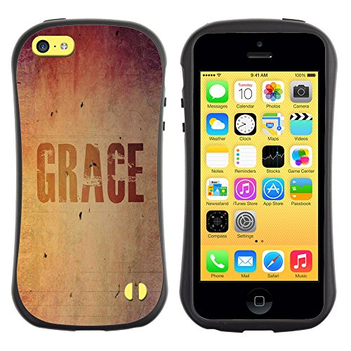 DREAMCASE Citation de Bible Silicone et Rigide Coque Protection Image Etui solide Housse T¨¦l¨¦phone Case Pour APPLE IPHONE 5C - GRACE