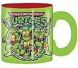 Silver Buffalo NT1832G Teenage Mutant Ninja Turtles Group Shot Sewer Ceramic Glitter Mug, 14 oz, Green