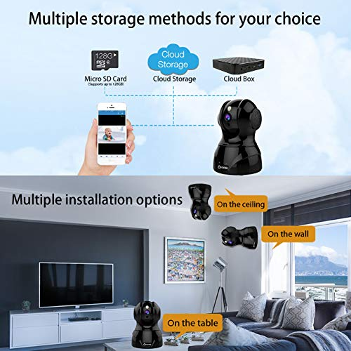 Wireless Security Camera - Atuten HD 1080p Wifi Security Surveillance  System, Motion/Face/Sound Detection, Night Vision, 2 Way Audio, iOS,  Android
