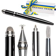 Only your imagination sets the limit of what you can create with The Friendly Swede's new Stylus pen with 4 separate functions stylus pen digital pen touchscreen pen ipad tablet stylus digital artist brush tip replaceable micro knit fiber tip...