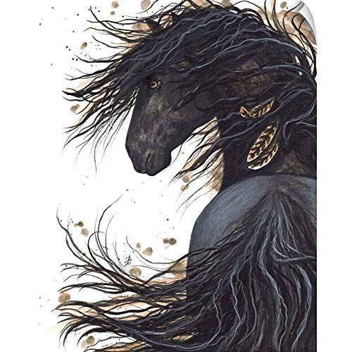 CANVAS ON DEMAND Majestic Friesian Horse 143