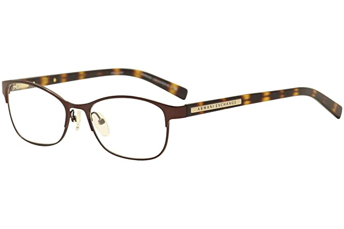 443795122872 Armani Exchange AX1010 Eyeglass Frames 6001-53 - Brown AX1010-6001 ...