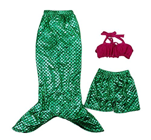 [Rush Dance Princess Ariel The Little Mermaid Dress Costume Cosplay Swimwear (6Y, Mermaid - Top, Tail and] (Ariel Tail Costumes)