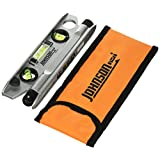 Johnson Level and Tool 40-6164 7-1/2-Inch Magnetic Torpedo Laser Level with Softsided Padded Carrying Pouch