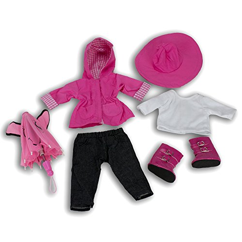 Rain Coat Doll Clothes for American