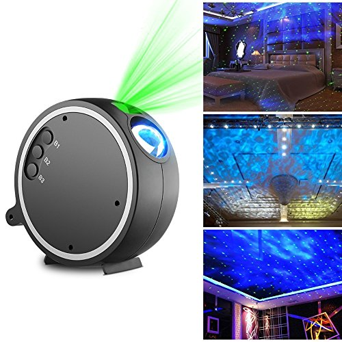 Projector Light,Kingtoys LED Projection Romantic Night lamp, Blue Star Light Suitable for Birthday Parties, Family Party, KTV, Dance Halls, Clubs, Bars, Karaoke, Kids Party, Dance Floor