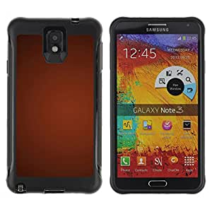Pulsar Defender Series Tpu silicona Carcasa Funda Case para SAMSUNG Galaxy Note 3 III / N9000 / N9005 , Texture Gradient Red