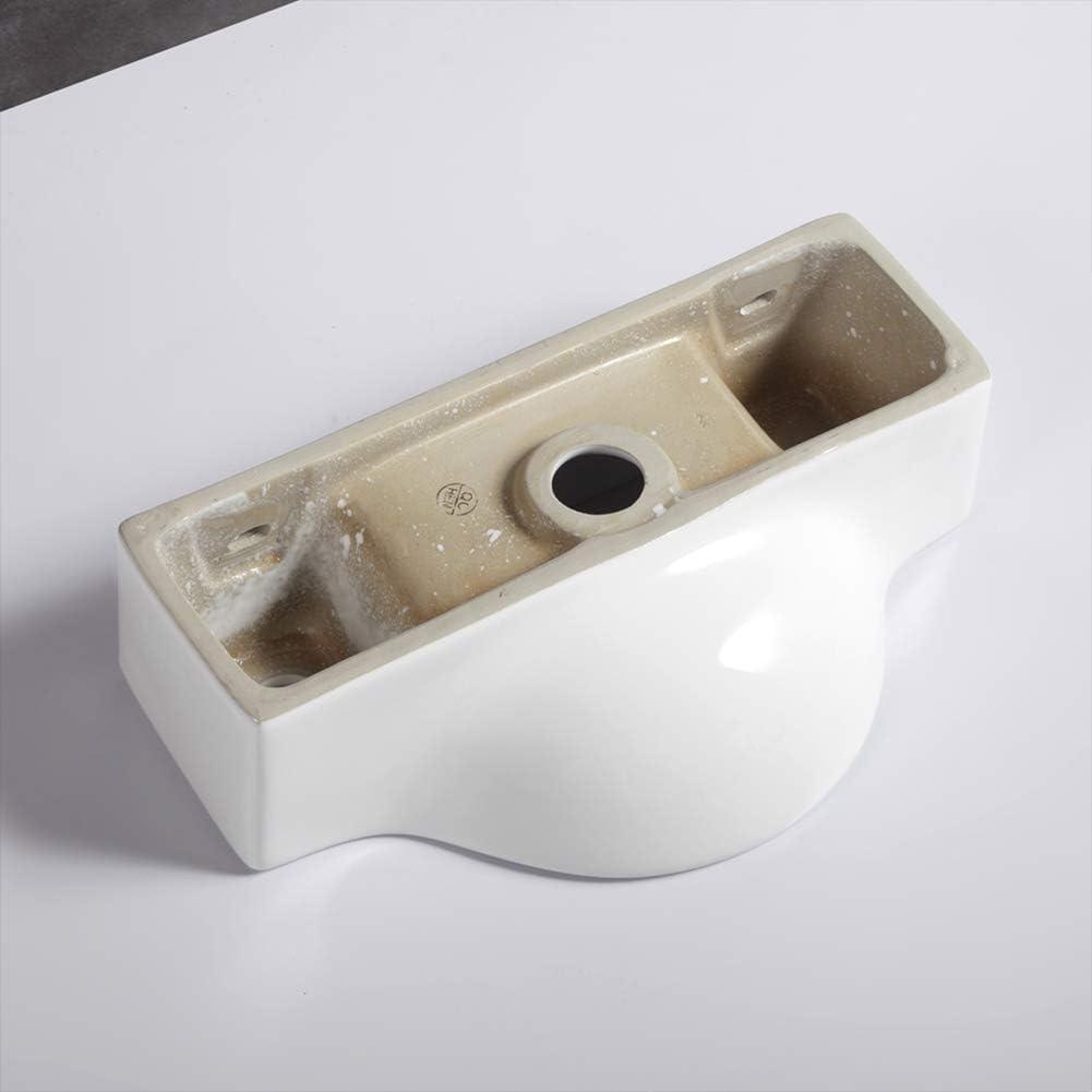 Fregadero de pared peque/ño de cer/ámica para lavabo de ba/ño 445 x 225 x 125 mm