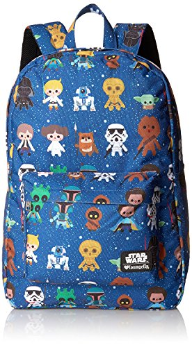 Loungefly Star Wars Baby Character Aop Print Back pack, Multi, One Size]()