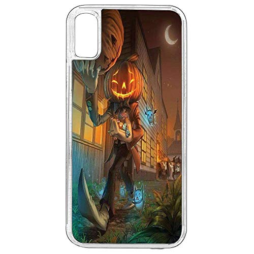 iPhone 10 Case,Halloween Case for iPhone X,Hello BOOTIFUL iPhone X Shockproof Case Happy Halloween Cover Case TPU Rubber Transparent Case for iPhone 10/iPhone -