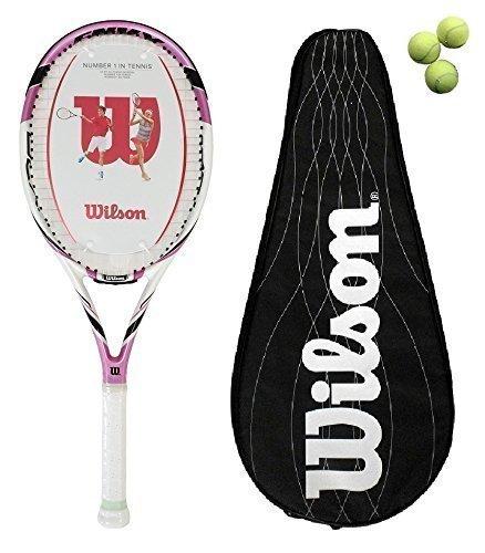 Wilson Envy 100L BLX raqueta de tenis cubierta + 3 pelotas + ...