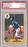 1987 Topps Baseball #170 Bo Jackson Rookie Card Graded PSA 10 Gem Mint