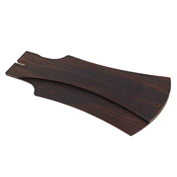 B Blesiya 1 Pieza Chapas de Cabezal para Ukelele Guitarra de Madera Blackwood Accesorio de Repuesto Perfecto para Guitarra Eléctrica - café, ...