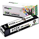 Kingjet Re-Manufactured Ink Cartridge Replacement for 972X Work with PageWide Pro 477dn, 477dw, 577dw, 577z, 552dw, 452dn, 452dw Printers, 1 Pack(Black)