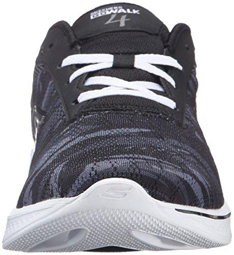 Black Walk 4 Shoe Go Women's Performance White Motion Skechers Walking FwO8tqT