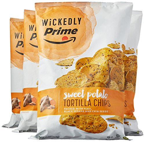 : Wickedly Prime Sweet Potato Tortilla Chips, 13 Ounce (Pack of 4)
