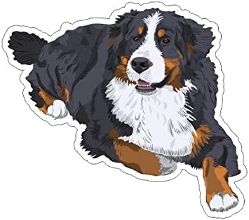 Car Windows Canine Owner Gift for Tumblers Bernese Mountain Dog Vinyl Sticker Decal Laptops Dog Breed Sticker