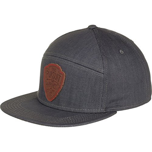 Meridian Line Pursuit 5-Panel Hat Denim Grey, One Size