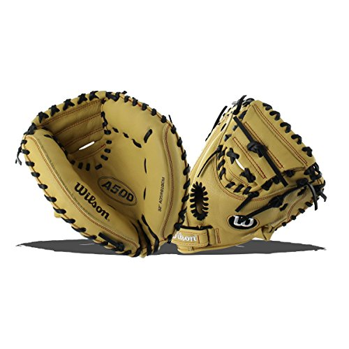 Wilson 2018 A500 Catcher's Mitts - Right Hand Throw Blond...