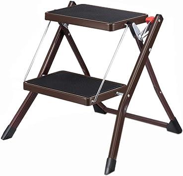 SwZQ Escalera de dos peldaños, Escalera plegable de metal con balcón Escalera portátil multifuncional Escalera exterior Tamaño 49 * 3.5 * 55.5CM Ahorro de trabajo: Amazon.es: Bricolaje y herramientas