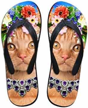 9d268733e2805 Sandals Bottle Opener Yoga Mat Flip Flops for Men Women Thong Wreath  Tangerine Cat Kitten