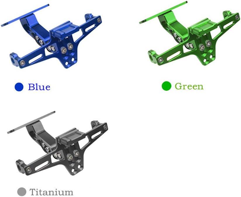 SDGDFXCHN Kennzeichenhalter Tail Tidy Kennzeichenhalter Halterung Motorrad Kennzeichenhalter Halterung Halter Halterung Rahmenhalterung mit LED-Plattenleuchte