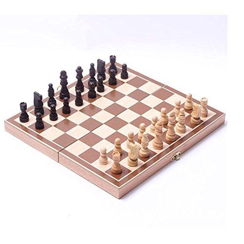 yongyi Wooden Standard Chess Set New Portable Foldable 15