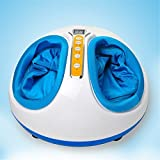 Denshine® Foot Massager SPA Rolling Kneading Air Pressure Heating Shiatsu (Blue)