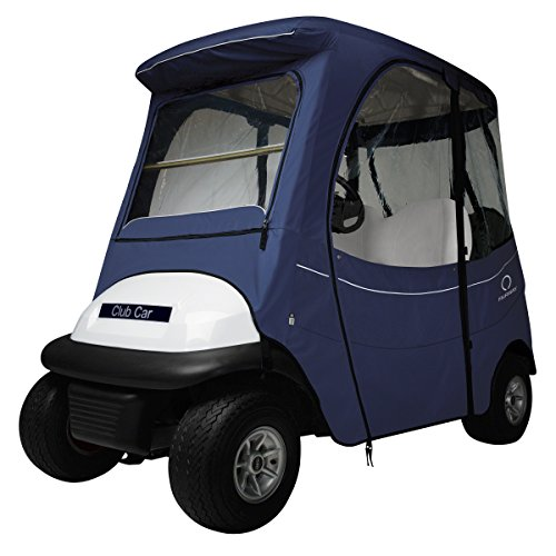 Classic Accessories Fairway Golf Cart FadeSafe Enclosure for Club Car, Short Roof, Navy