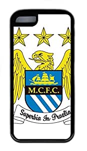 iPhone 5C Case, iPhone 5C Cases - Black Soft Rubber Shock-Absorption Bumper Case for iPhone 5C Manchester City Logo Widescreen Water Resistant Back Case for iPhone 5C