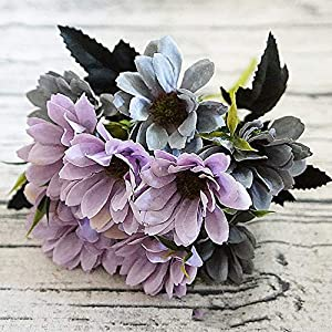 Artificial Sunflower Fake Flowers Bouquet 13 Heads/Bundle with Leaves Real Looking Sunflower for Wedding Home Party Living Room Hotel Decorations 97