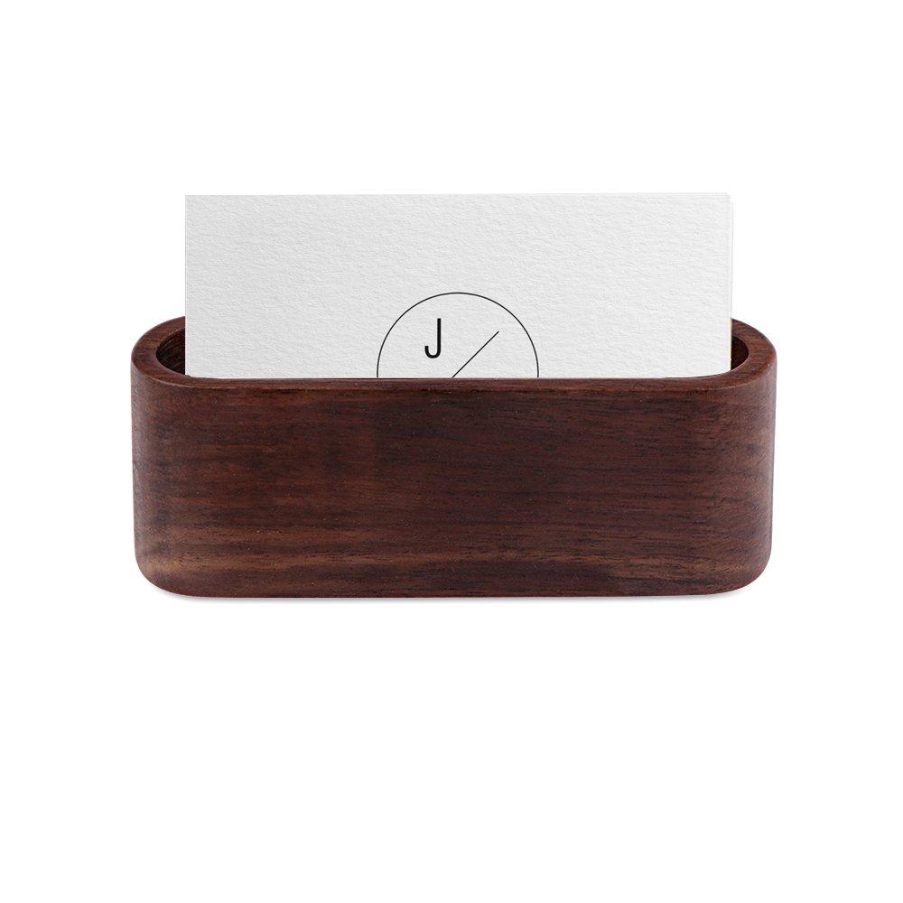 Wood Business Card Stand Card Holder Desk, AOZBZ Name Card Case Display Stand Organiser Desktop