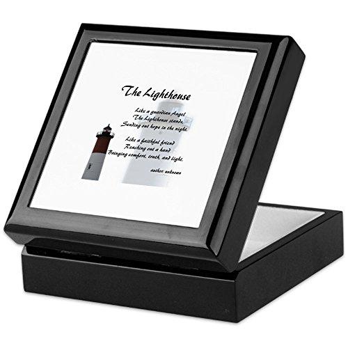 CafePress - The Lighthouse - Keepsake Box, Finished Hardwood Jewelry Box, Velvet Lined Memento Box