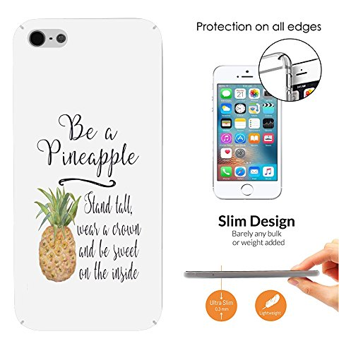 002833 - Tropical Fruit Be A Pineapple Quote Design iphone 4 4S CASE Ultra Slim Light Plastic 0.3MM All Edges Protection Case Cover-Clear