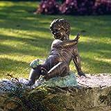 Victorian Childhood Memories Spitting Frog Garden Statue Fountain