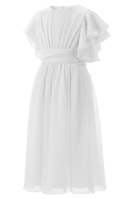 Babyonlinedress/® Blumenm/ädchenkleid Kinderkleid Chiffon Prinzessin A-Linie Plissiert Festlich Hochzeit Kleid Partykleid