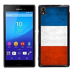 LECELL--Funda protectora / Cubierta / Piel For Sony Xperia M4 Aqua -- Nacional bandera de la nación País Francia --