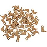 Dovewill 50 Pieces Cowboy Boot Wooden Embellishments Crafts Embellishment for Wedding Party Decoration
