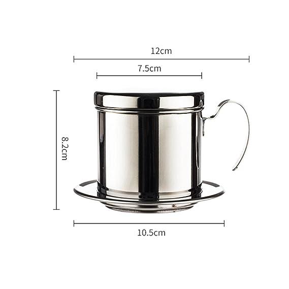 WHJY Vietnamitas filtro de café inoxidable sin papel mecanismo para la cocina casera oficina al aire libre: Amazon.es: Hogar