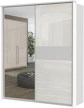 Blanco Armario de puertas correderas 225 x 188 x 64 cm, armario para dormitorio: Amazon.es: Bricolaje y herramientas