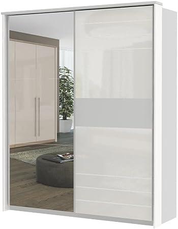 Blanco Armario de puertas correderas 225 x 188 x 64 cm, armario ...