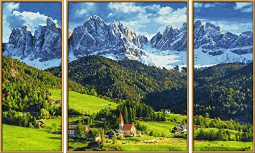Schipper 609260760 Painting by Number Panoramic Alpine St.Magdalena