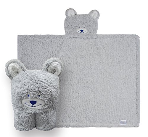 Kids Hooded Blanket,Cute Animal Bear Plush Sherpa Fleece Bath Throw,Fit 3-10 Years Old,Best Gifts for Boys and Girls by softan (Image #1)