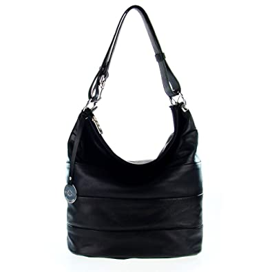 Amazon italian made black leather hobo bag by map italy shoes italian made black leather hobo bag by map italy gumiabroncs Image collections