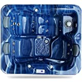 Zspas 3-4 Seater New Zeus Deluxe Hot Tub 32 Amp Balboa Approved By Hot Tub Suppliers (Blue, 195 x 170 x 95)